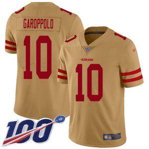Mens 49ers #10 Jimmy Garoppolo 100th Jersey